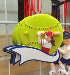 Softball Personalized Ornament