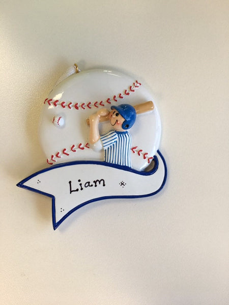 Baseball Player - Personalized Ornament