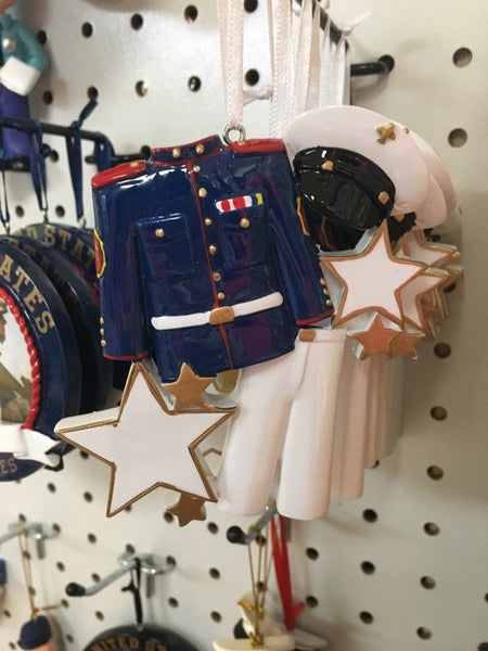 Marine Uniform // Personalized Christmas Ornament