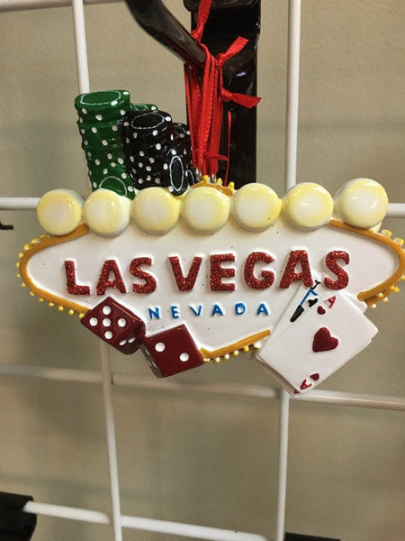 Las Vegas Dice N Chips Personalied Christmas Ornament