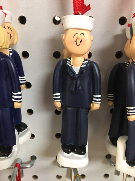 Navy Man- Navy Woman- Personalized Services Ornaments
