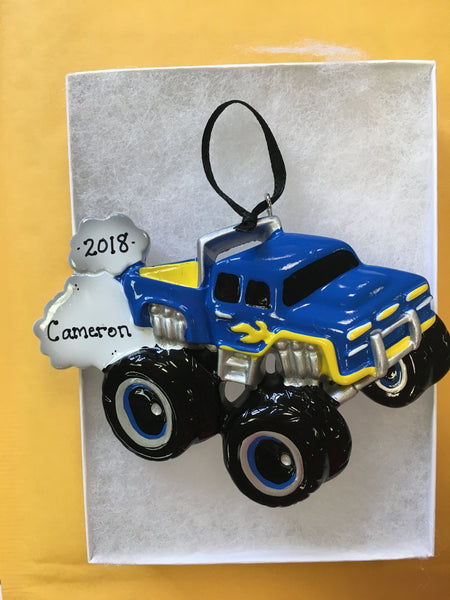 Monster Truck Personalized Christmas Ornament