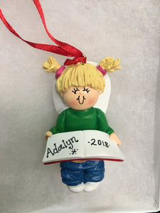 Potty Training with Book Personalized Milestone Christmas Ornament