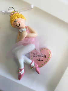 Ballerina // Dancer // Personalized Christmas Ornament