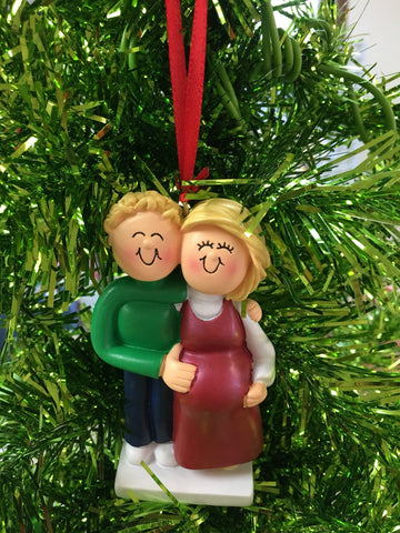 Expecting Couple Personalized Christmas Ornament