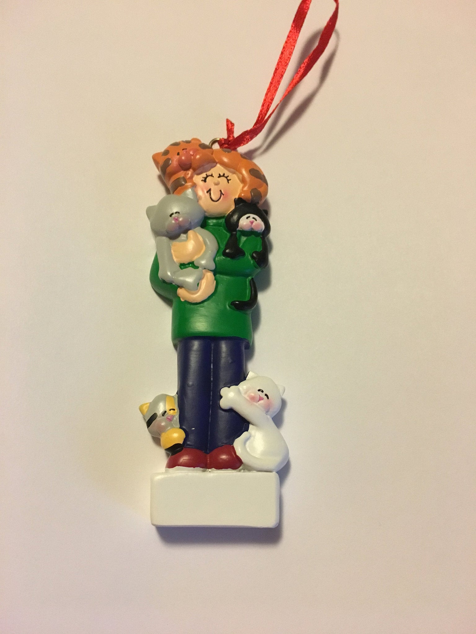 Cat Lady Personalized Christmas Ornament
