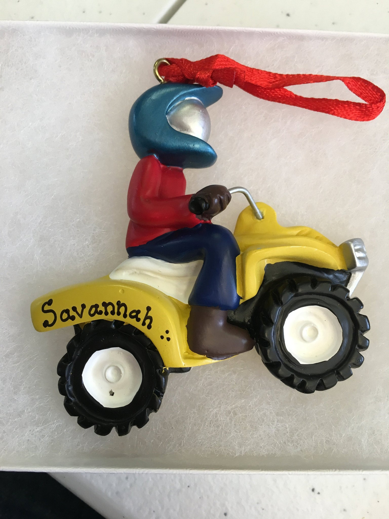 4 Wheeling Personalized Christmas Ornament