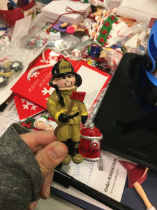 Fire Fighter Personalized Christmas Ornament