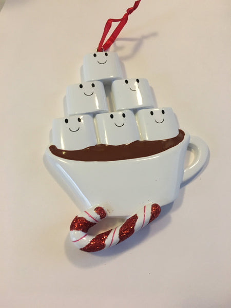 Personalized Hot Chocolate Mug Family Christmas Ornament