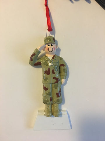 Army Personalized Christmas Ornament