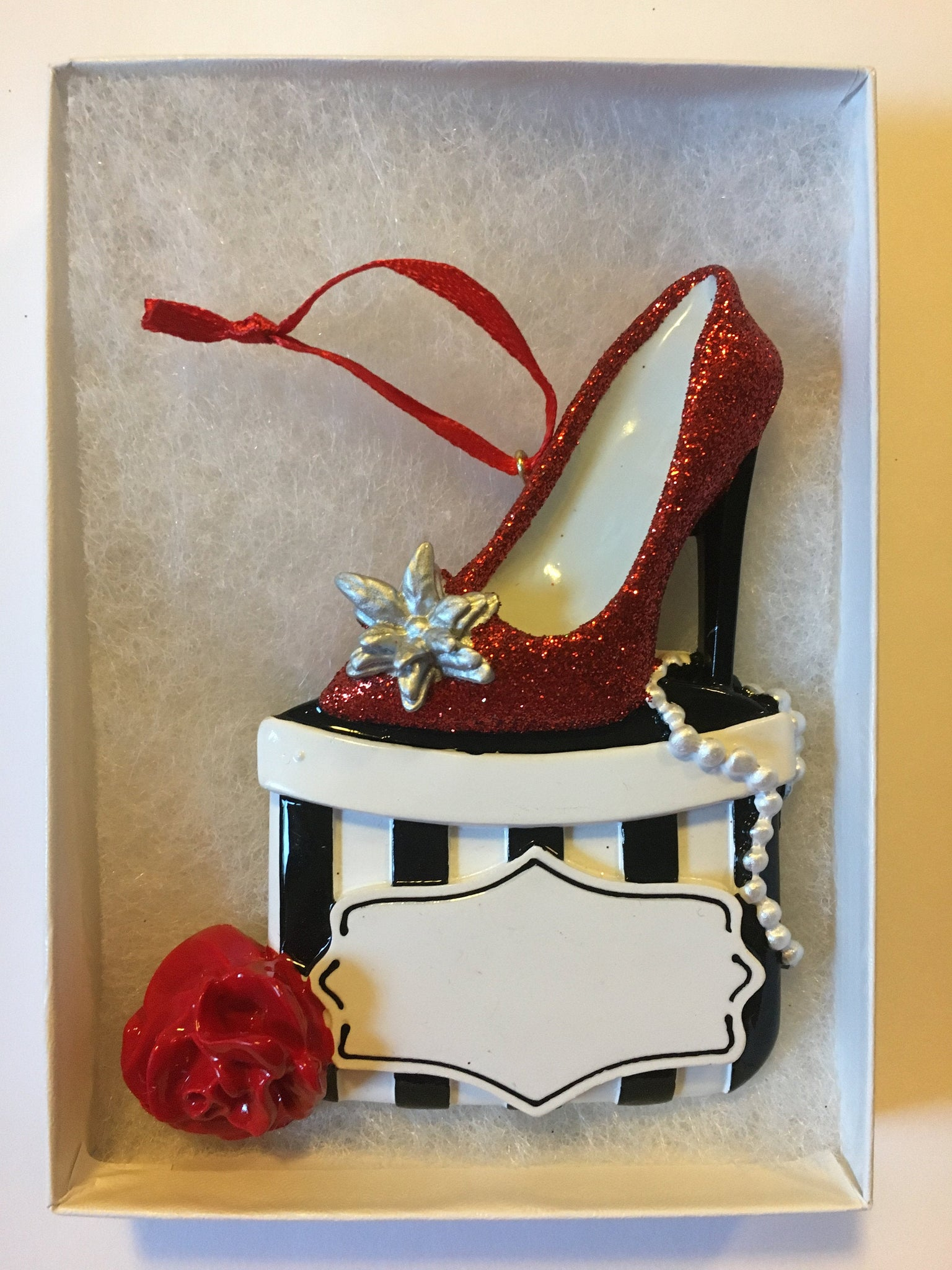 Shoe Lover // Shoe Box personalized Christmas Ornament