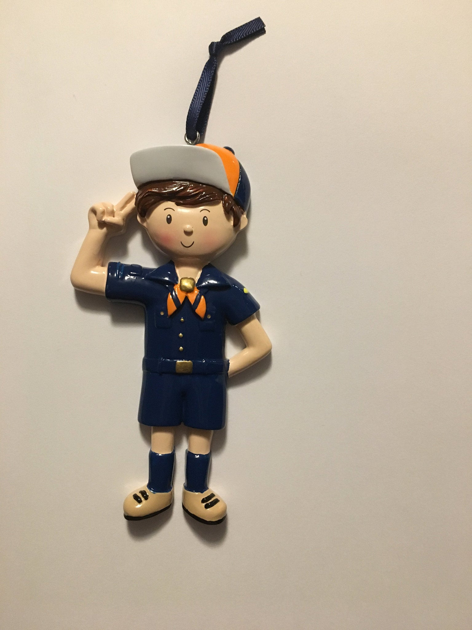 Scout (Blue) Child Personalized Christmas Ornaments