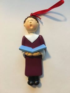 Personalized Choir Boy Ornament
