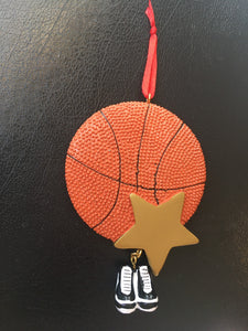 Basketball with Star and sneakers Personalized Ornament