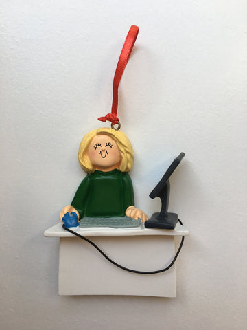 Receptionist - Computer Desk Personalized Ornament