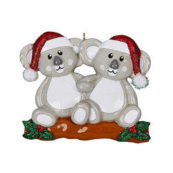 Koala Couple Personalized Ornament