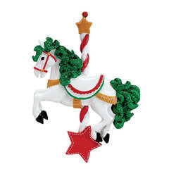 Carousel Horse Personalized  Ornament