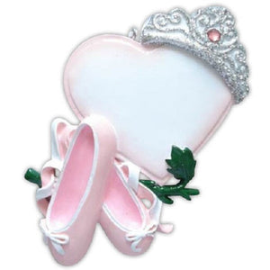 Ballerina Princess Personalized Christmas Ornament