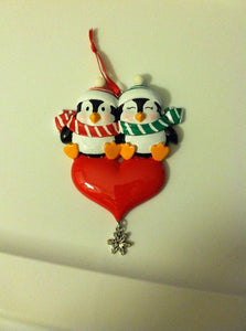 Penguin Couple-Personalized Ornament