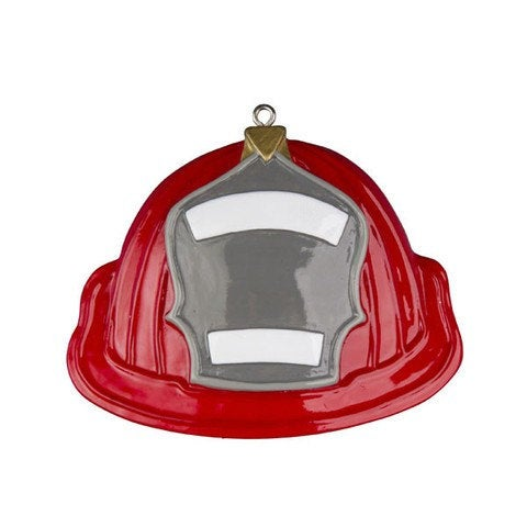 Firemen's Helmet Personalized Ornament