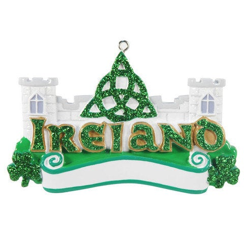 Ireland Personalized Travel Ornament