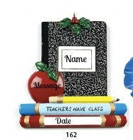 Teacher's Notebook Personalized Teachers Ornament