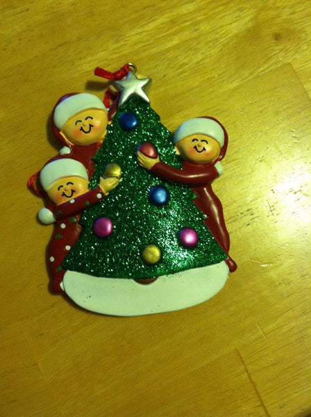 Tree Decorating Couple // Family Personalized Family Ornament