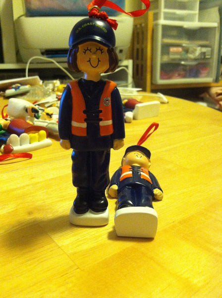 Coast Guard Personalized Christmas Ornaments