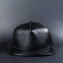 Load image into Gallery viewer, Blank B+N Leather Trucker Hat