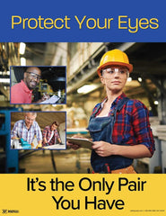 Eyes protection Safety poster