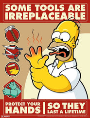 Simpson's safety poster - Hand protection