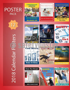 Safety Posters Pack - 2018 Calendar Pack - safetyposter.com