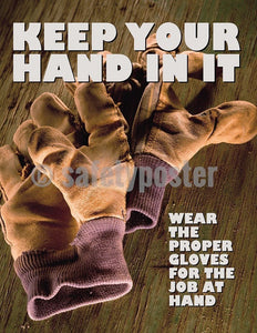 Safety Poster - Keep Your Hand In It - safetyposter.com
