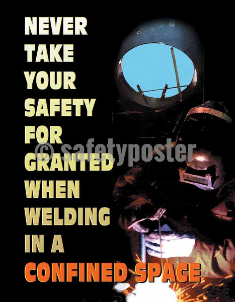 Safety Poster - Welding In Confined Space - safetyposter.com
