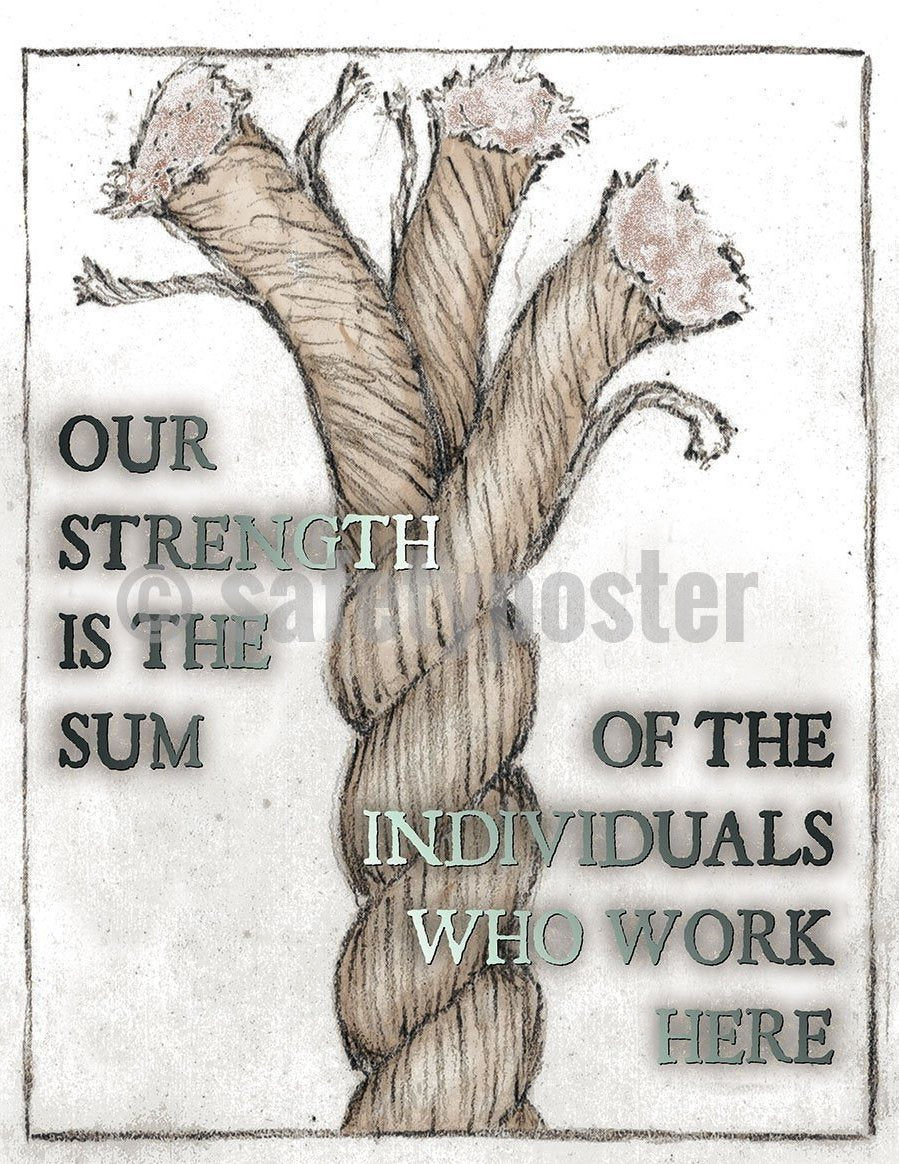 Safety Poster - Our Strength Is The Sum Of The Individuals Who Work Here - safetyposter.com