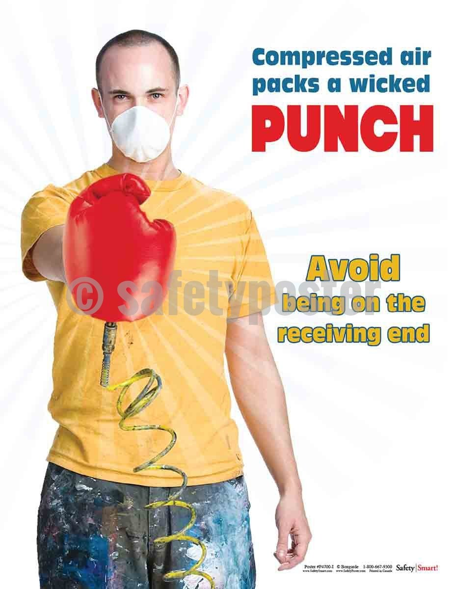 Safety Poster - Compressed Air Packs A Wicked Punch - safetyposter.com