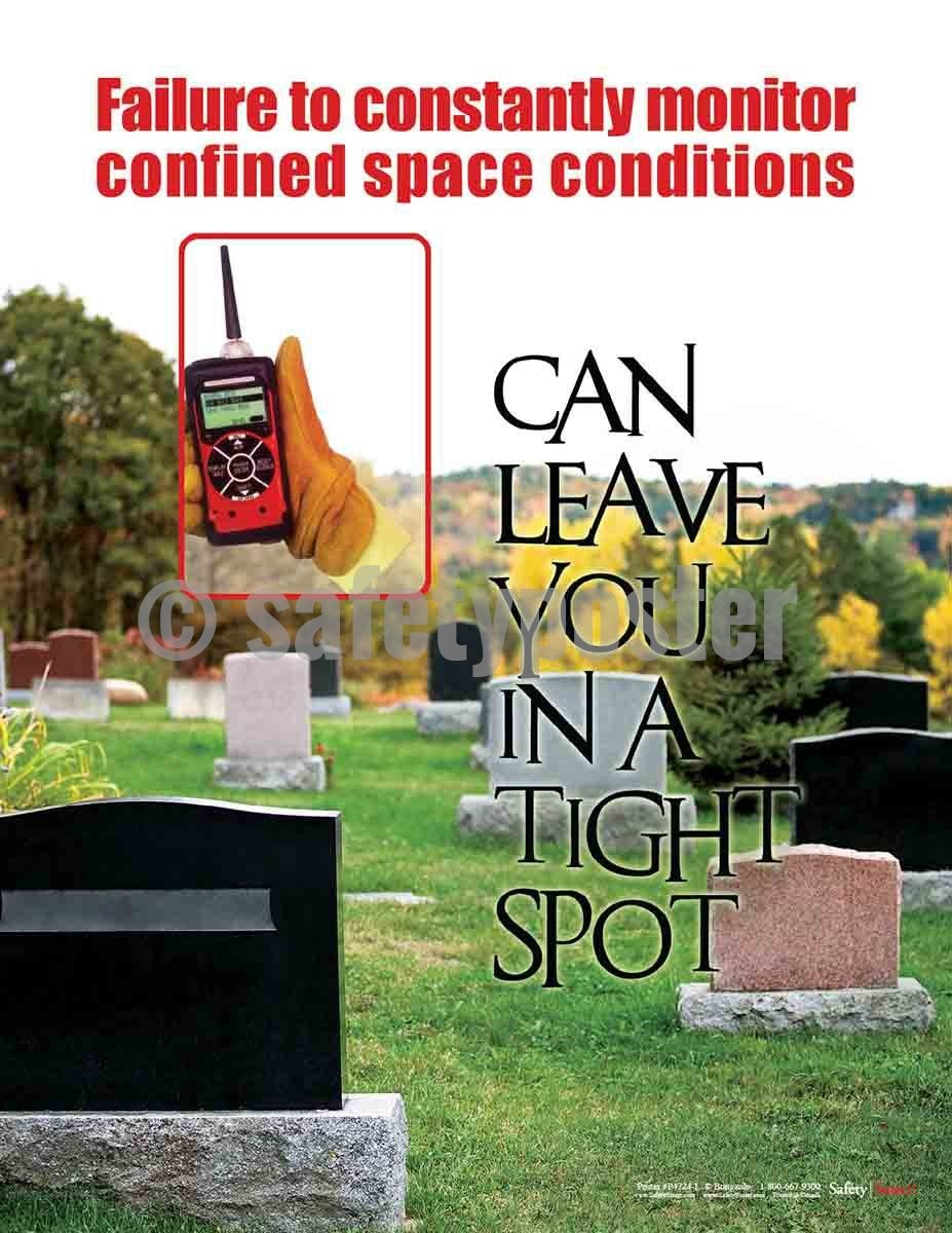 Safety Poster - Failure To Constantly Monitor Confined Space Conditions - safetyposter.com