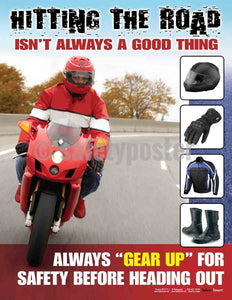 Safety Poster - Hitting The Road Isn't Always A Good Thing - safetyposter.com