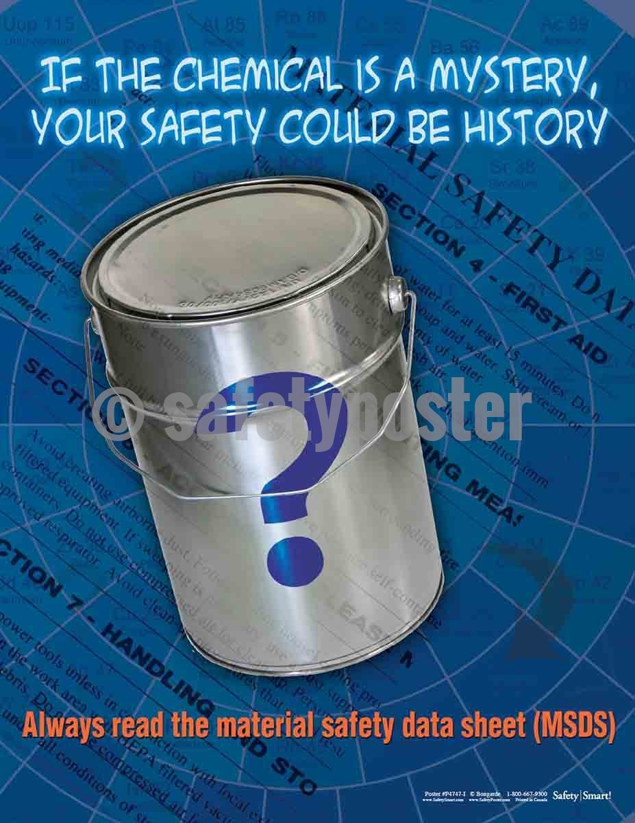 Safety Poster - Always Read The Material Safety Data Sheet - safetyposter.com