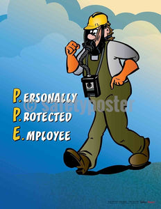 Safety Poster - Personally Protected Employee - safetyposter.com