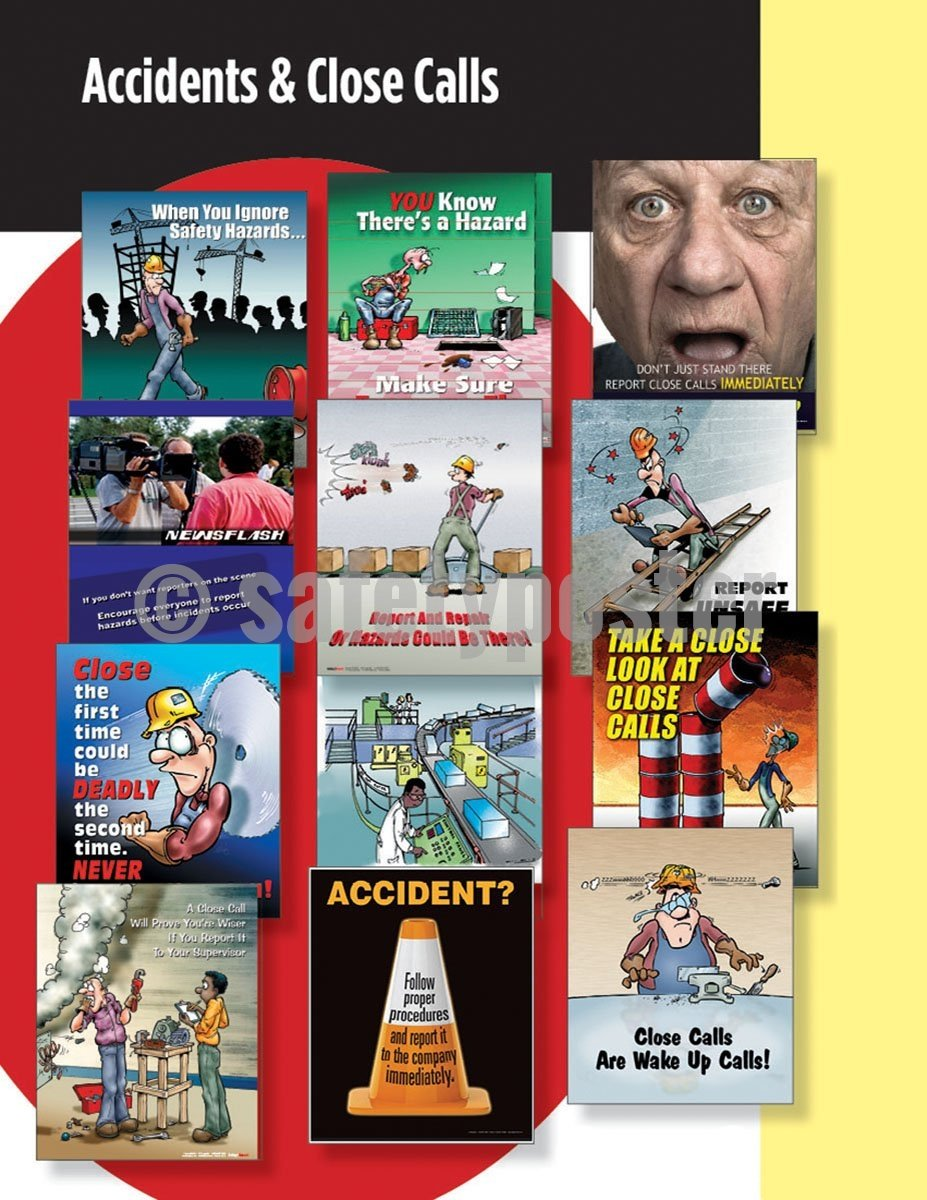 Safety Posters Pack - Accident Prevention Poster Packs