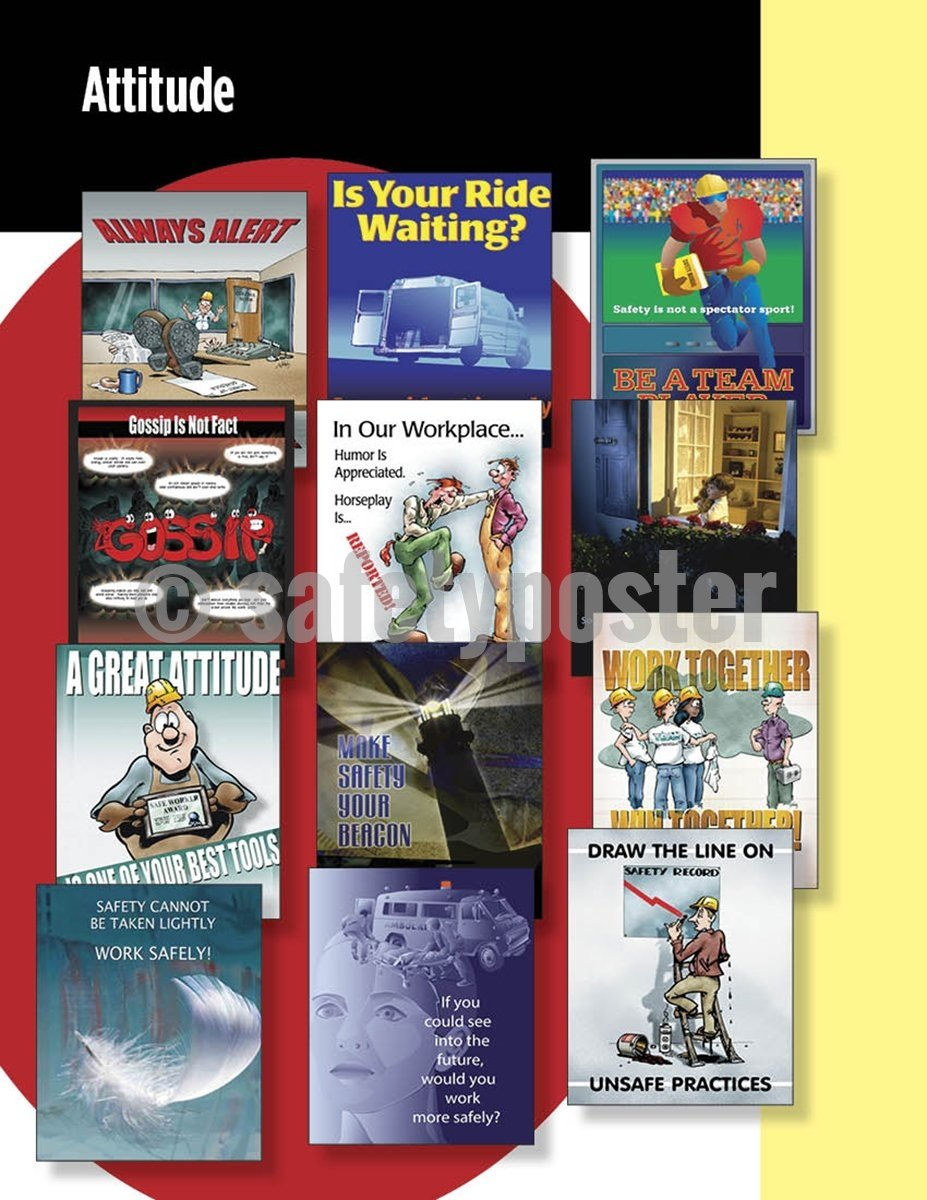 Safety Posters Pack - Attitude Poster Packs