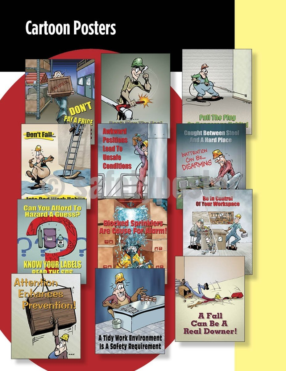 Safety Posters Pack - Cartoon #3 Poster Packs
