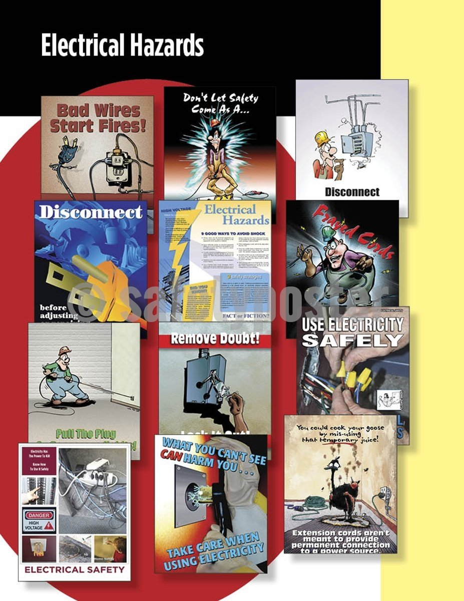 Safety Posters Pack - Electrical Poster Packs