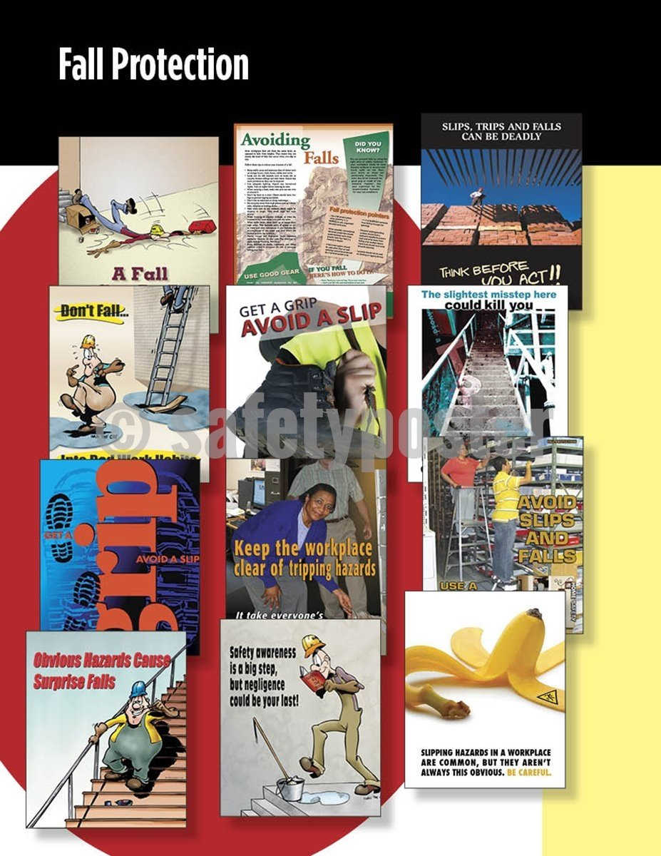 Safety Posters Pack - Fall Protection Poster Packs