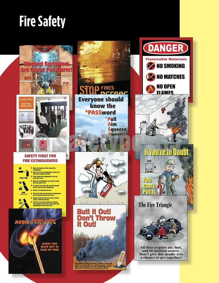 Safety Posters Pack - Fire Poster Packs