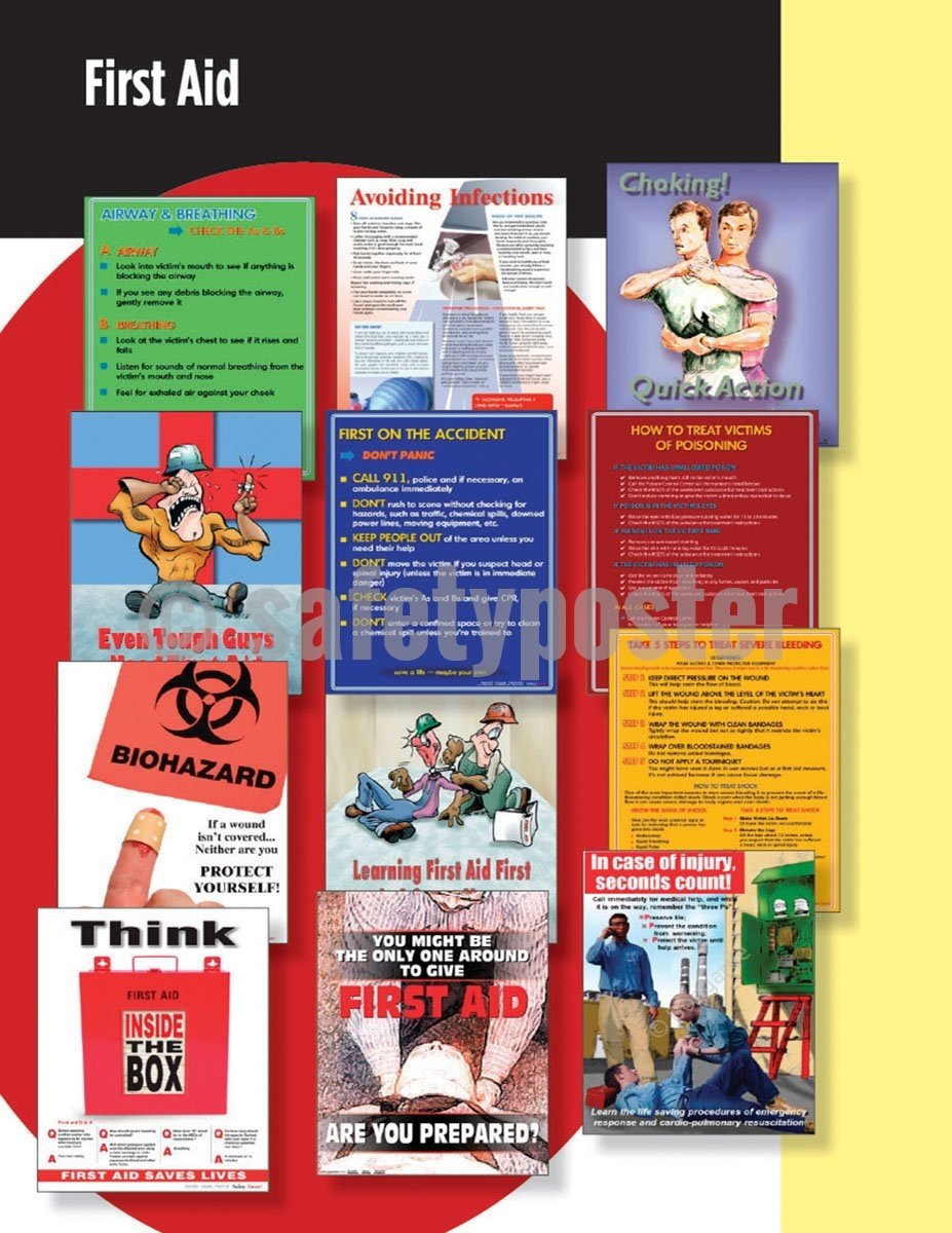 Safety Posters Pack - First Aid Poster Packs