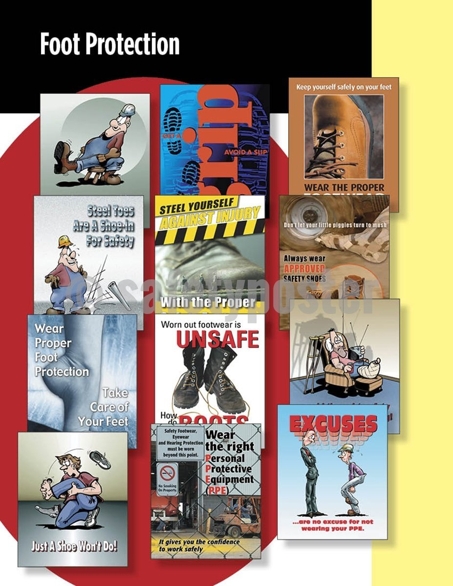 Safety Posters Pack - Foot Protection Poster Packs