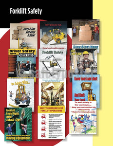 Safety Posters Pack - Forklift Poster Packs