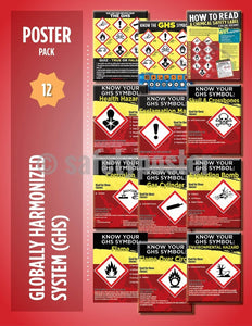 Safety Posters Pack - Ghs Chemical Poster Packs